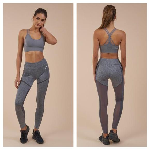 bbe58eeca16ce6 Gymshark Pants | Simply Mesh Legging Charcoal Marl | Poshmark